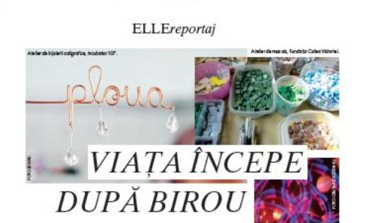 Viata incepe dupa birou – reportaj in revista Elle