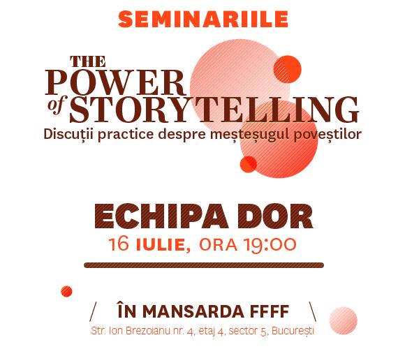Seminariile The Power of Storytelling – Cristi Lupsa si echipa Decat o Revista