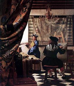 """Descifrînd tablouri celebre: """"Arta picturii"""" de Johannes Vermeer"""