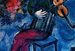 the blue violinist marc chagall