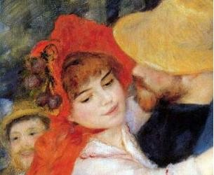 Renoir - Dance in Bougival (Detail)