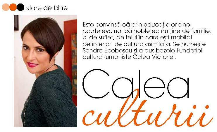Revista Femeia: Interviu cu Sandra Ecobescu (noiembrie 2014)
