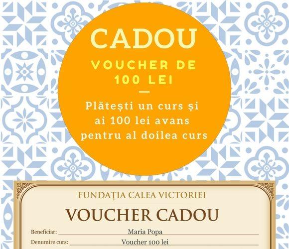 La fiecare curs cumpărat în AUGUST primeşti CADOU un voucher de 100 de RON