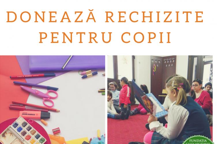 Caiete, cărţi şi ghiozdane – Rechizite pentru copiii de la Centrul de zi Sfânta Sofia