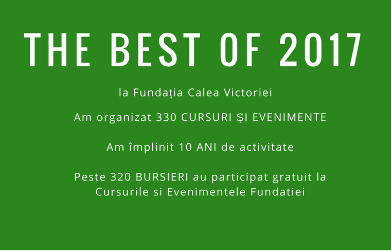 The Best of 2017 la Fundatia Calea Victoriei