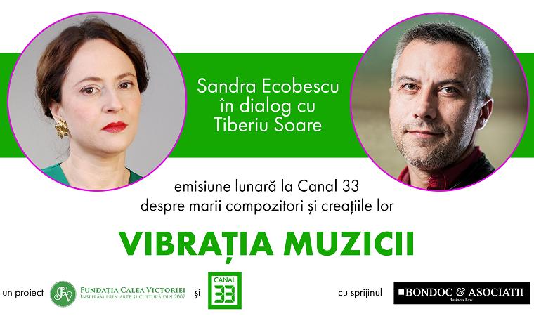 Vibraţia muzicii – o nouă emisiune culturală  cu Sandra Ecobescu şi Tiberiu Soare